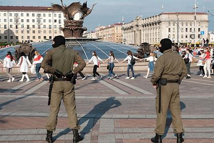 В Минске протестующих задержали занападение насотрудников ОМОН