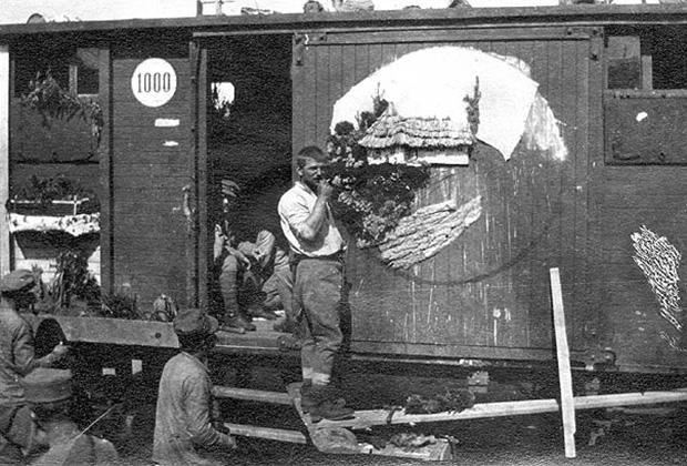 Эшелон с чехословацкими легионерами в России