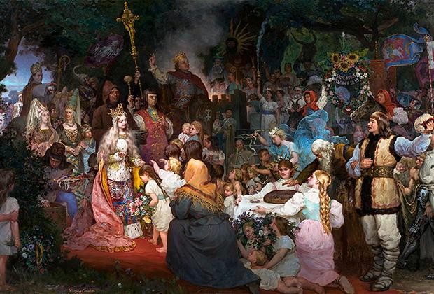 Картина Владислава Цесельского «Крещение Литвы»