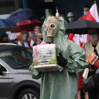 Акция в Вильнюсе у посольства Белоруссии против итогов президентских выборов