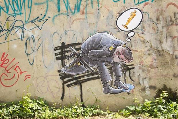 Граффити в Бресте. Просуществовало всего несколько часов