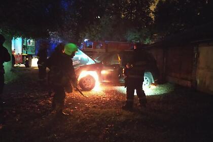 В Минске сожгли машину сотрудника государственного СМИ