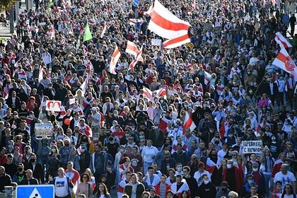 Среди сотни задержанных на митингах в Белоруссии оказался россиянин
