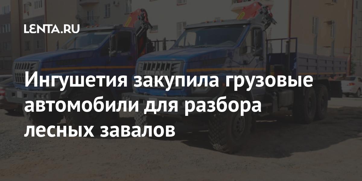 Ингушетия закупила грузовые автомобили для разбора лесных завалов
