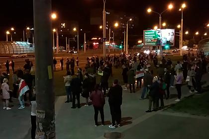 Встреча сторонников и противников Лукашенко в Минске попала на видео