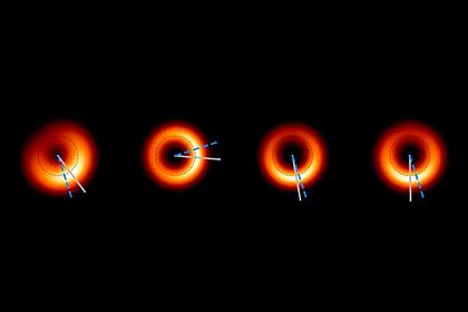 Получены новые снимки гигантской черной дыры