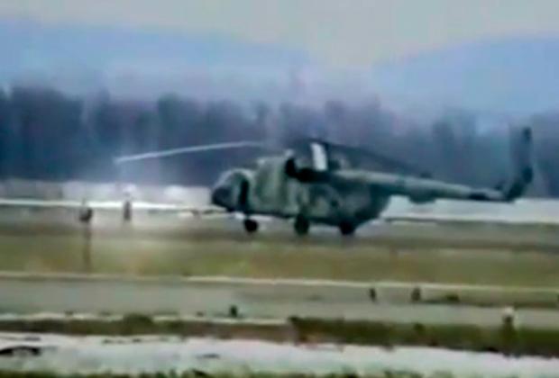Ми-8 с террористами под руководством Казака
