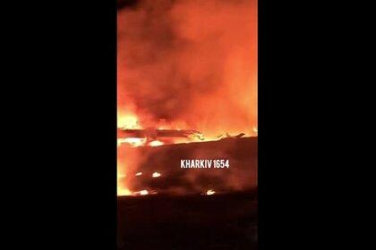 Появилось видео крушения самолета на Украине