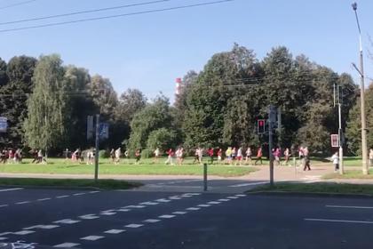 В Минске силовики догнали участников «забега свободных»