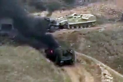 Карабахские военные захватили бронетехнику Азербайджана