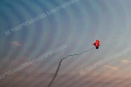 Уничтожение азербайджанского вертолета армянскими военными попало на видео