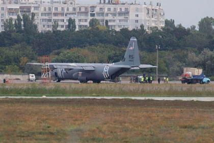 В Одессе приземлился военный самолет США с отказавшим двигателем