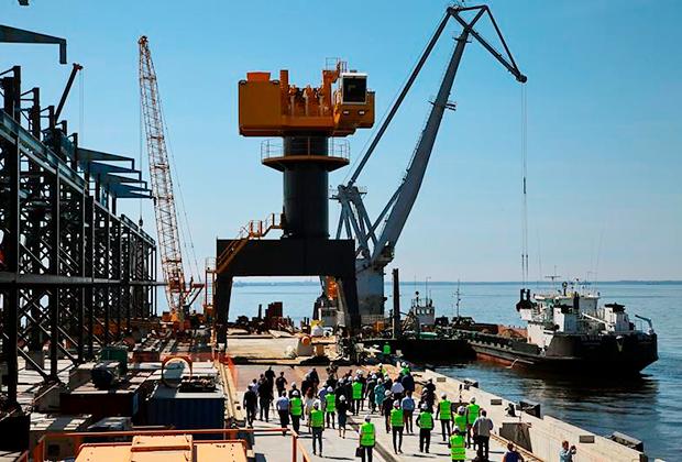Церемония открытия грузового железнодорожного сообщения терминала «Ультрамар» для перевалки минеральных удобрений в морском торговом порту Усть-Луга