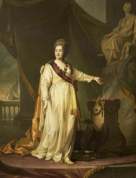 Картина «Екатерина II — законодательница в храме богини Правосудия», 1783 год