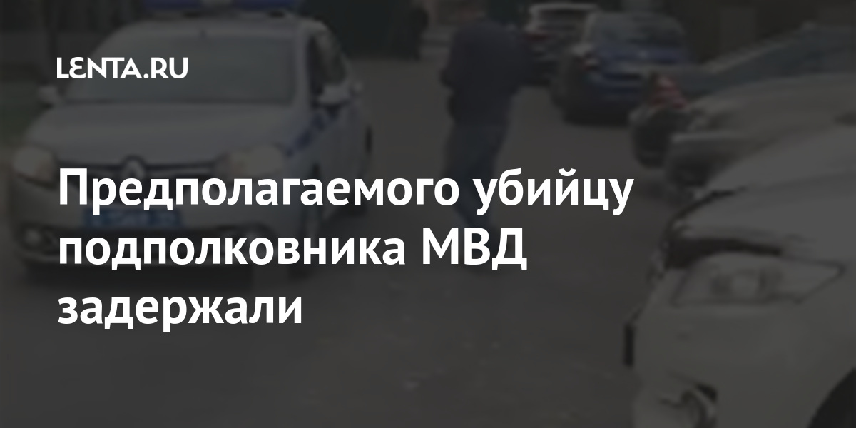 Предполагаемого убийцу подполковника МВД задержали
