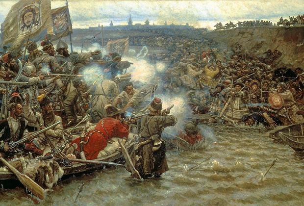 Василий Суриков «Покорение Сибири Ермаком Тимофеевичем», 1891-1895 годы