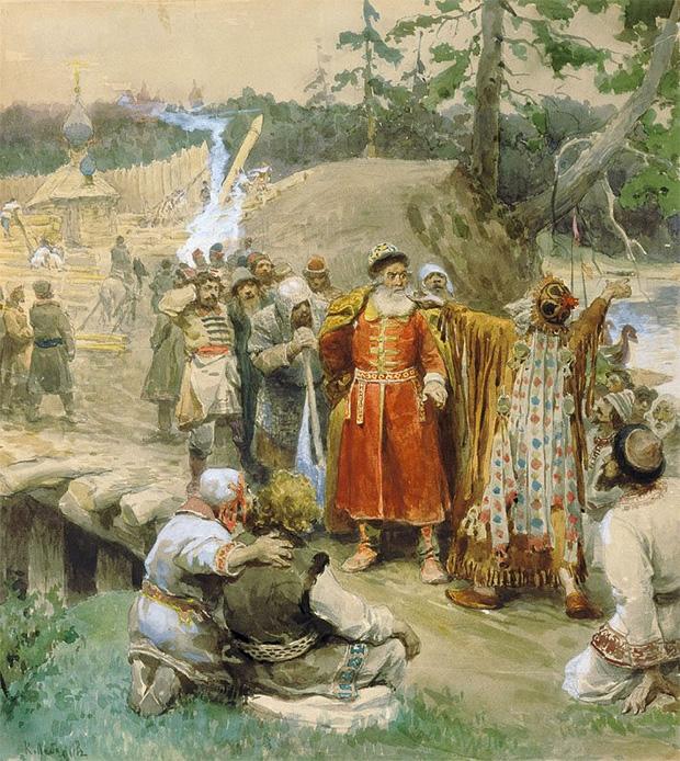 Клавдий Лебедев «Освоение русскими новых земель», 1904 год