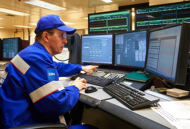 Центр управления морской нефтеперерабатывающей платформой «Приразломная».