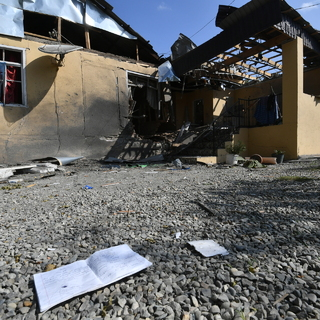 Последствия обстрелов в азербайджанском Тертере