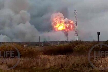 Момент взрыва вбывшей российской воинской части попал навидео