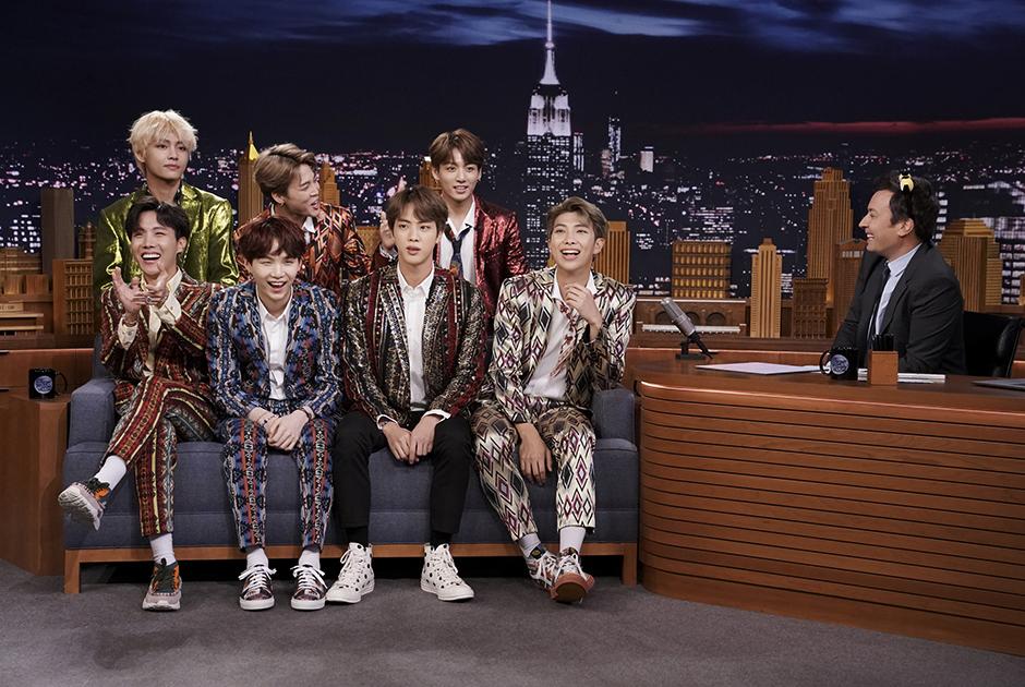 Группа BTS на шоу Джимми Фэллона
