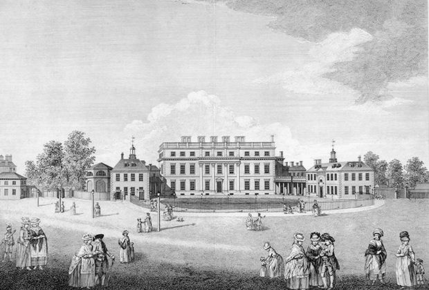 Восточный фасад Букингем-хауса, 1796 год