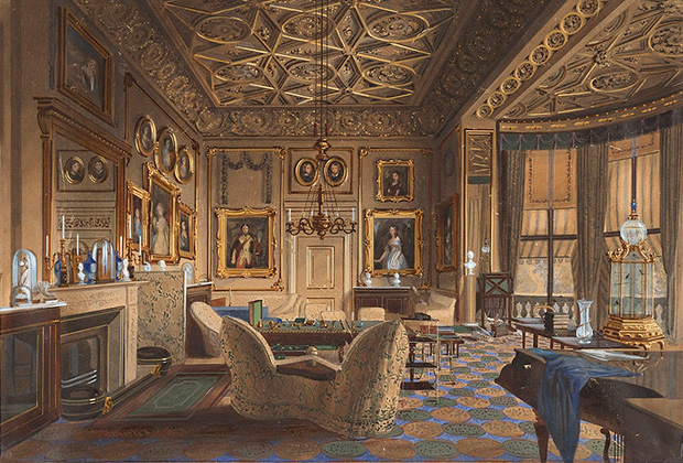 Личные покои королевы Виктории в Букингемском дворце, 1848 год