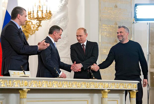 Подписание договора о принятии Республики Крым в Российскую Федерацию