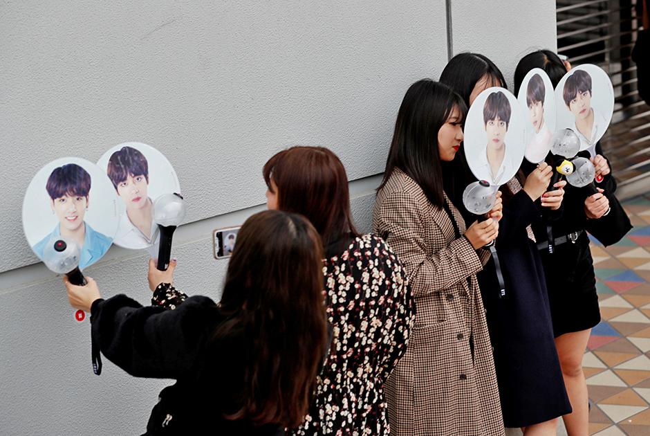 Фанатки группы BTS
