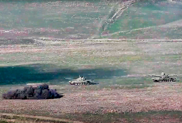 Уничтожение танка ВС Азербайджана