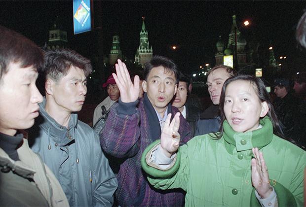 Освобожденные южнокорейские туристы