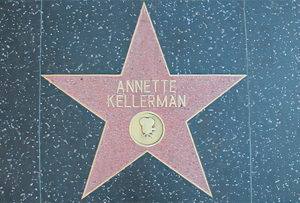 Звезда Аннет Келлерман на Аллее славы в Голливуде