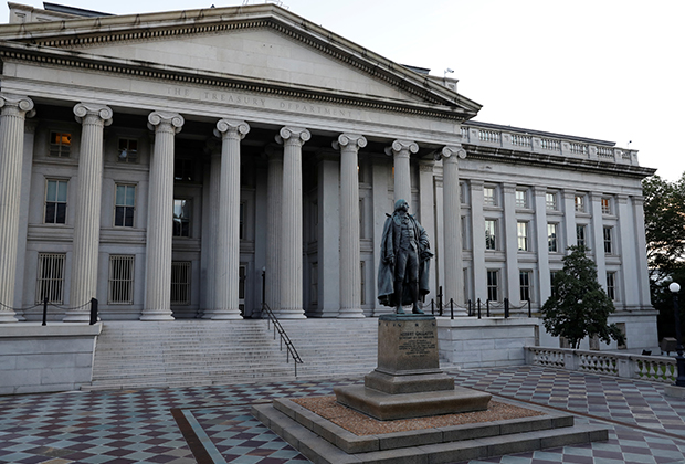 The United States Department of the Treasury is seen in Washington, D.C.