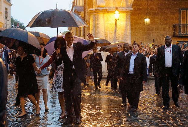 Президент США Барак Обама во время визита на Кубу в 2016 году