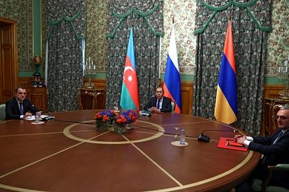 Переговоры в Москве между Арменией и Азербайджаном при участии главы МИД России Сергея Лаврова, 9 октября