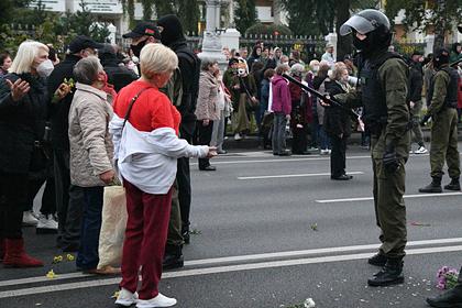 В Минске начались задержания на протестной акции