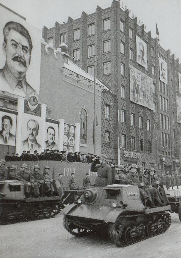 Военный парад в Таллине. 7 ноября 1940 г.