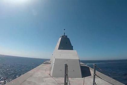 Первый боевой пуск суперэсминца ВМС США попал на видео