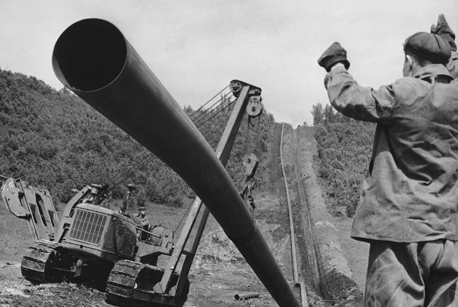 Строительство нефтепровода «Дружба» в Брянской области, 1962 год