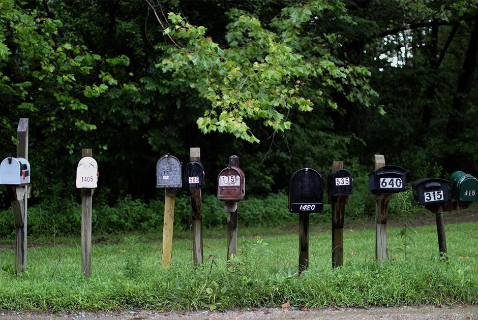 Почтовые ящики в городе Джонсборо штата Иллинойс
