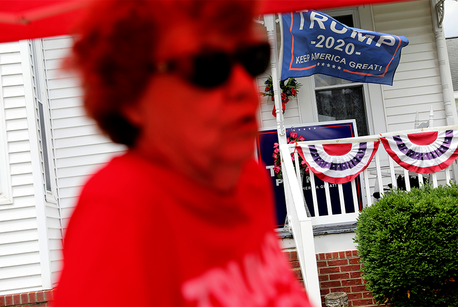 86-летняя Дорис Миллер, владелица магазина с сувенирами Трампа в Вене, штат Иллинойс