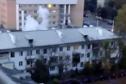 Силовики взорвали светошумовые гранаты на акции протеста в Минске