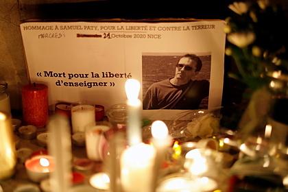 Во Франции задержали поставившего лайк под фотографией обезглавленного учителя