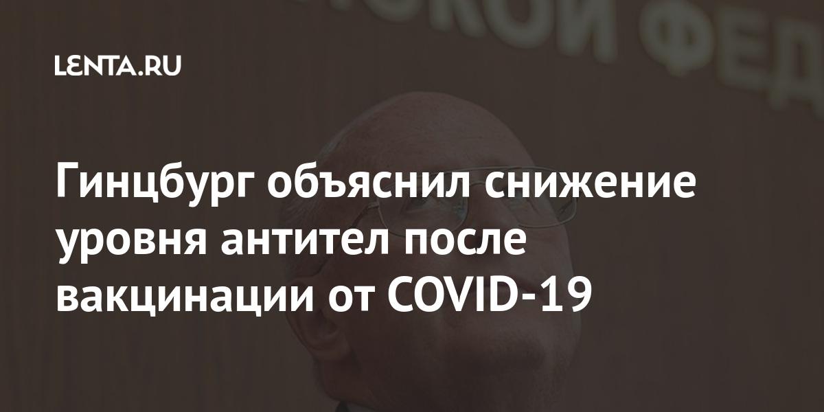 Гинцбург объяснил снижение уровня антител после вакцинации от COVID-19 - Lenta.ru