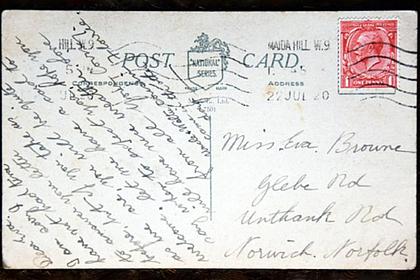 Открытка пришла по адресу через 100 лет после отправки