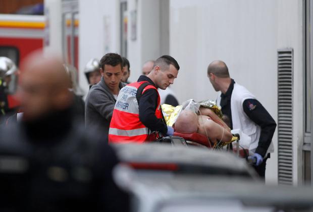 Раненный в результате теракта в редакции газеты Charlie Hebdo в Париже в 2015 году