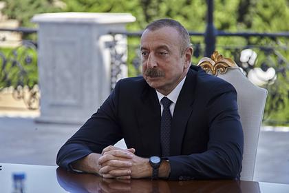 Алиев ответил на вопрос об участии третьих стран в карабахском конфликте