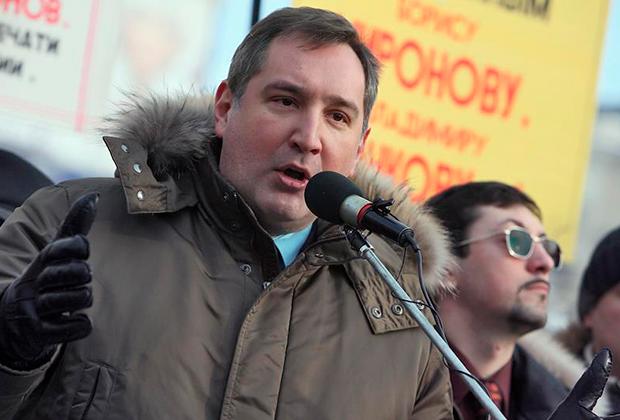 Депутат Госдумы Дмитрий Рогозин и лидер ДПНИ Александр Белов (на фото справа) на «Русском марше»