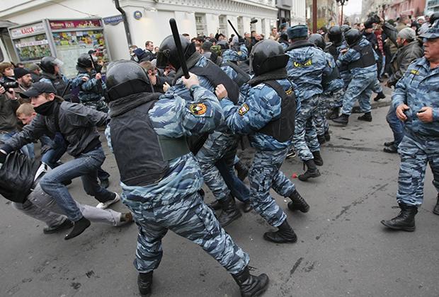 2008 год. Массовые столкновения националистов с ОМОНом на Старом Арбате