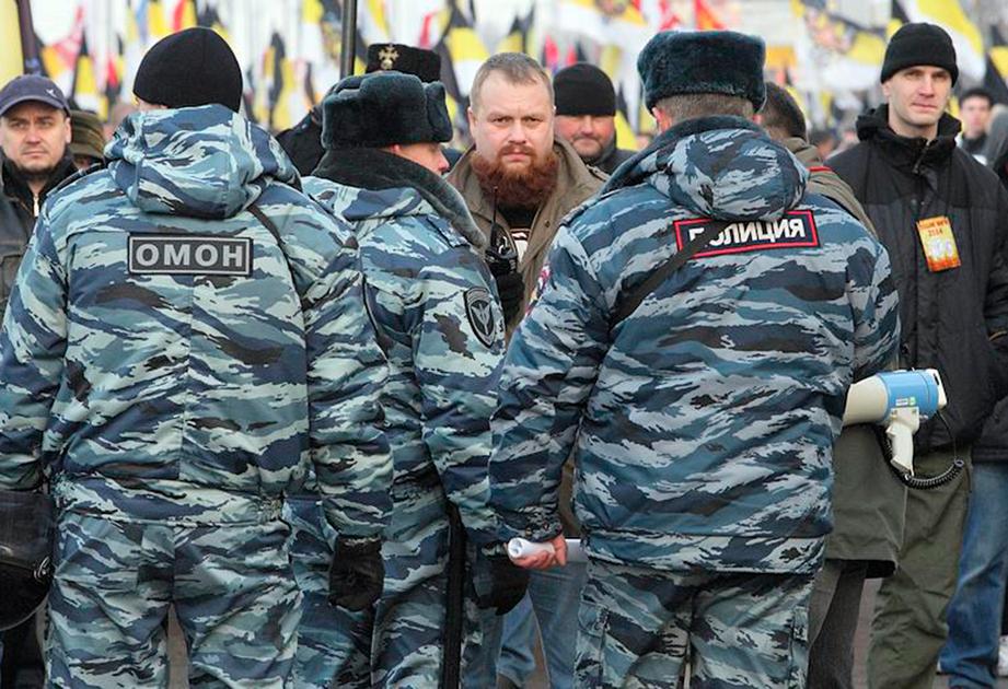 Дмитрий Демушкин на «Русском марше» в Люблино